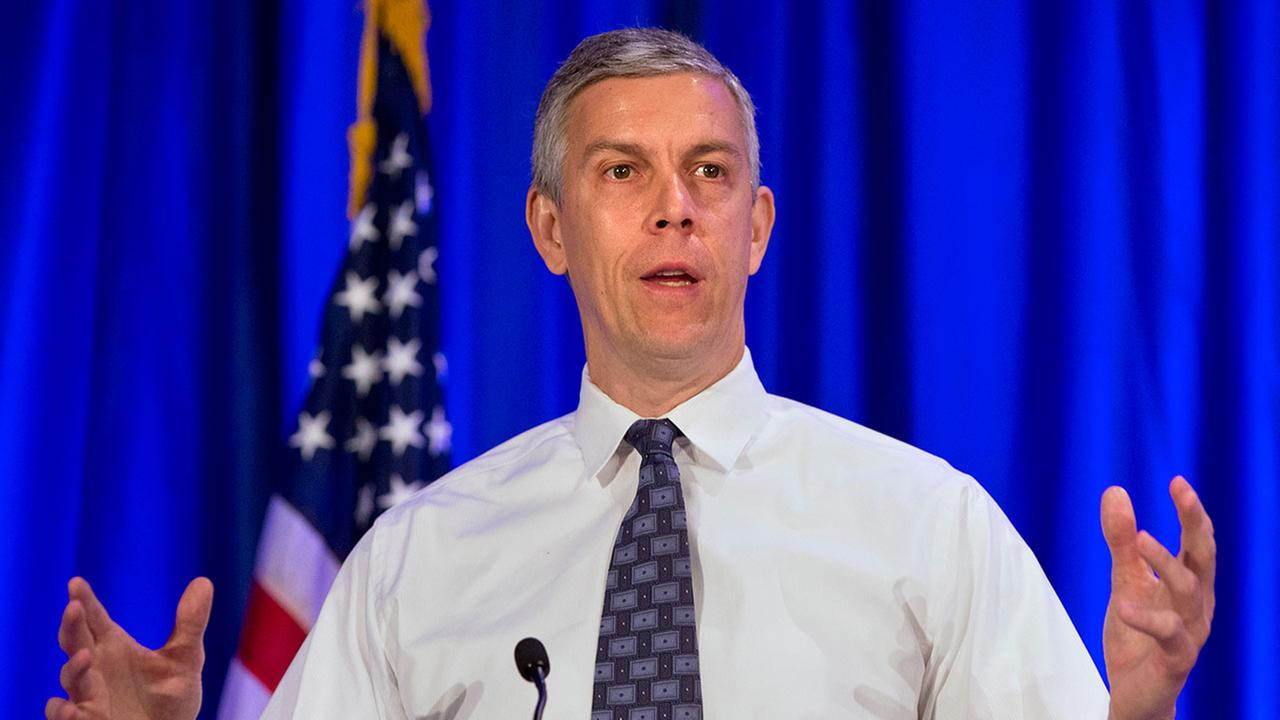 Education Secretary Arne Duncan speaks at the National Forum on Youth Violence Prevention in May 2015 in Virginia.