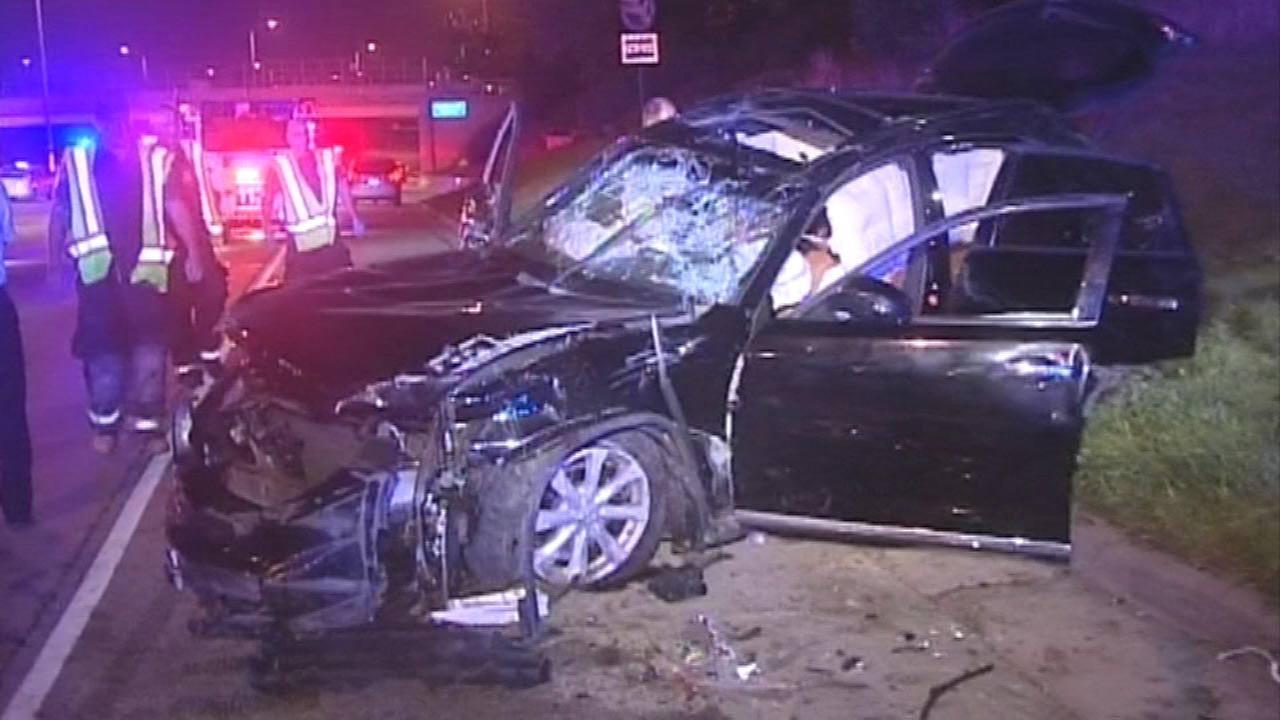 4 injured after chase, gunfire on I-290