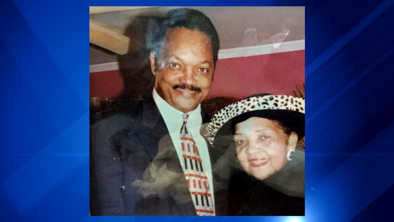 Rev. Jesse Jackson Sr. and his mother, Helen Jackson.
