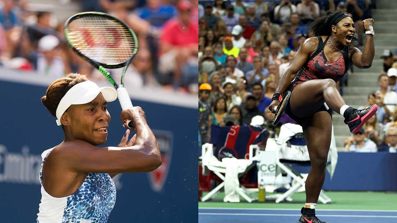 Venus Williams (left) and sister Serena Williams ( right) will play against each other at the U.S. Open Tuesday open.
