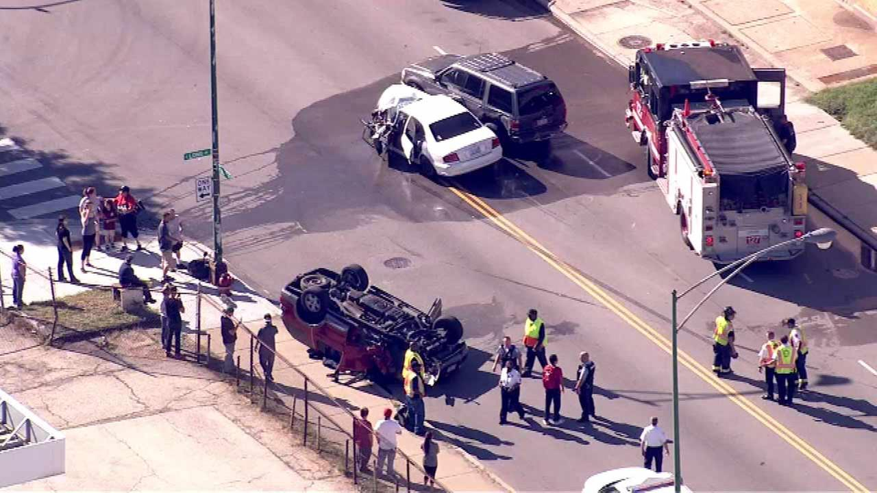Crews on scene of rollover crash in Southwest Side