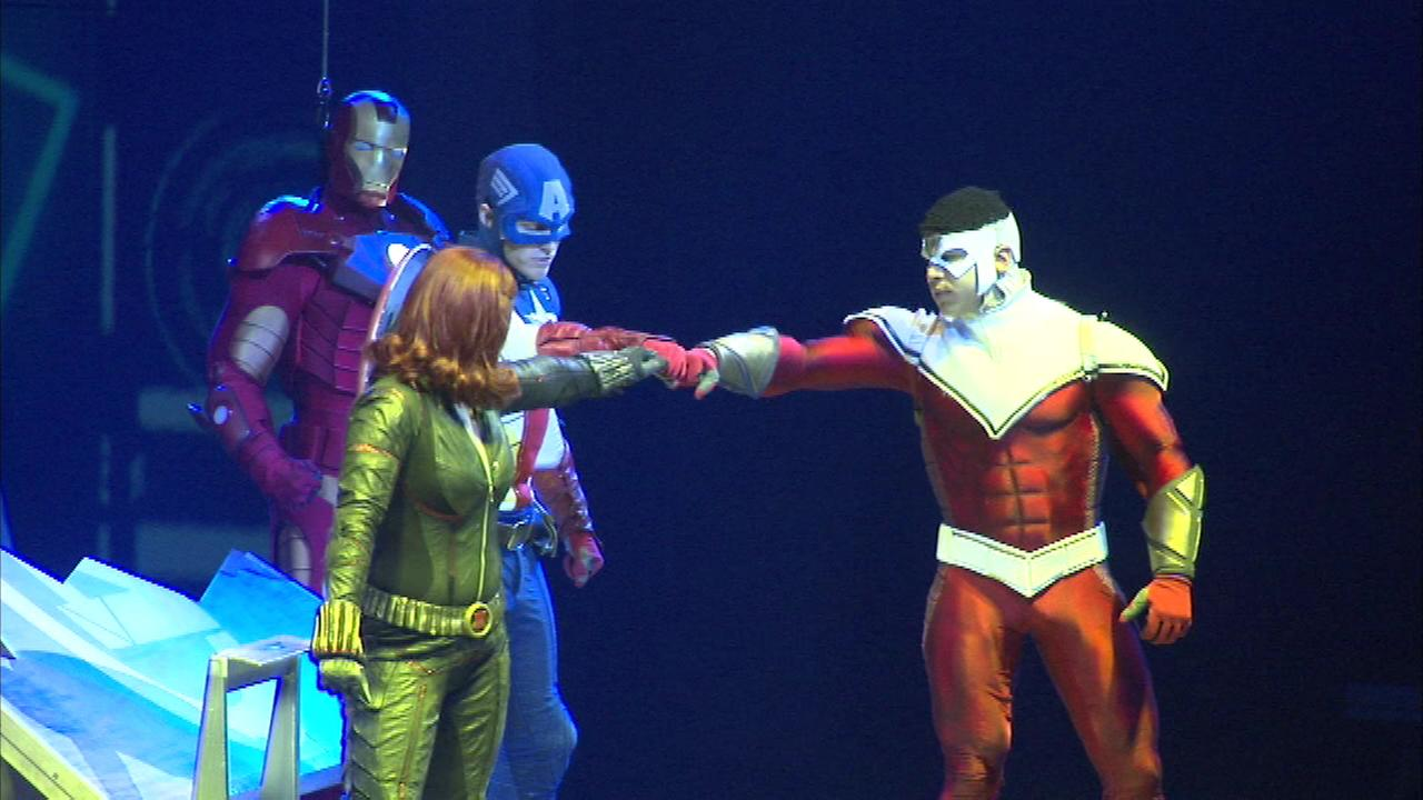 Marvel Universe Live kicked off its four-night run at the United Center Thursday night.