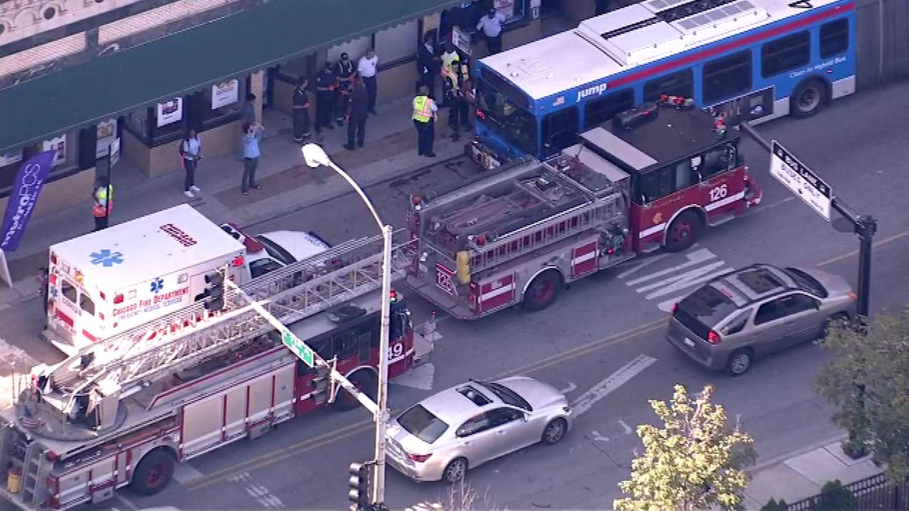 Minor injuries reported in CTA bus crash on South Side on September 14, 2015.