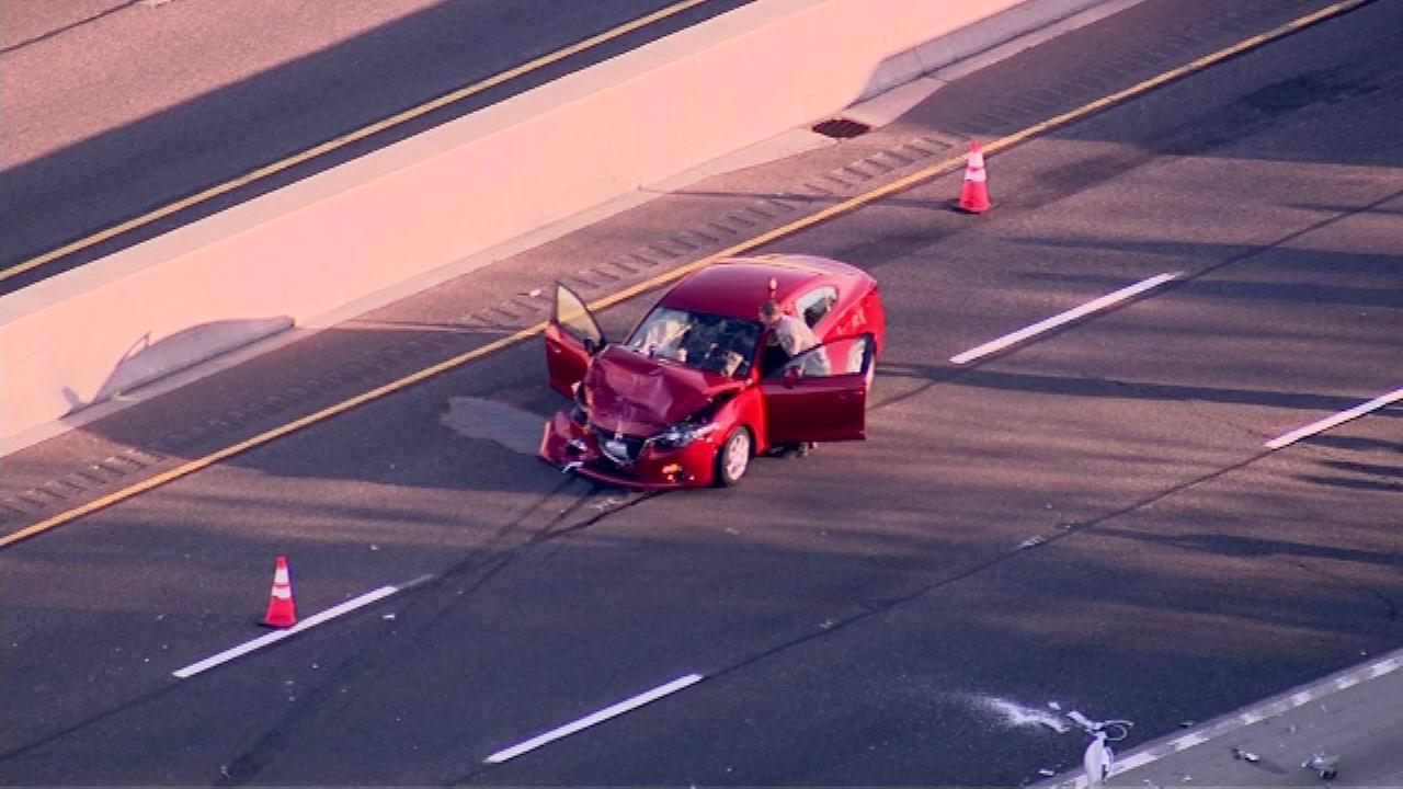A crash shut down all southbound lanes on I-55 near Joliet on Tuesday evening.