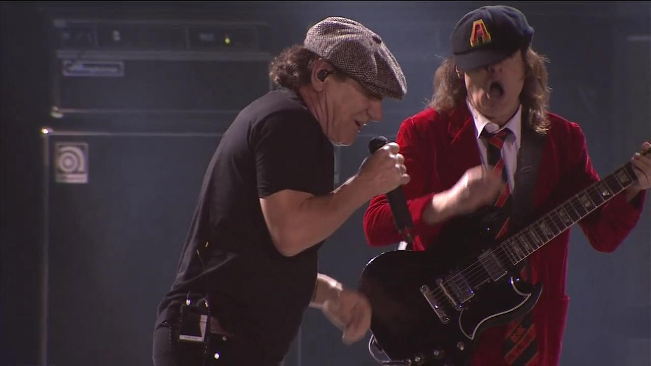 AC/DC performs at Wrigley Field.