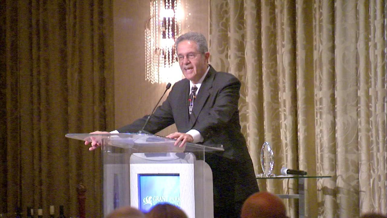 Eyewitness News anchor Ron Magers served hosted an event for the Grant Park Music Festival.