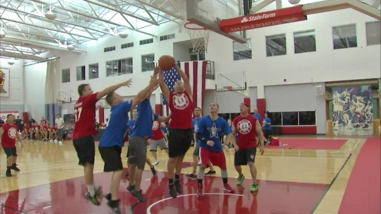 A basketball game in the northern suburbs Friday night was held to benefit the family of Fox Lake Lt. Joe Gliniewicz.