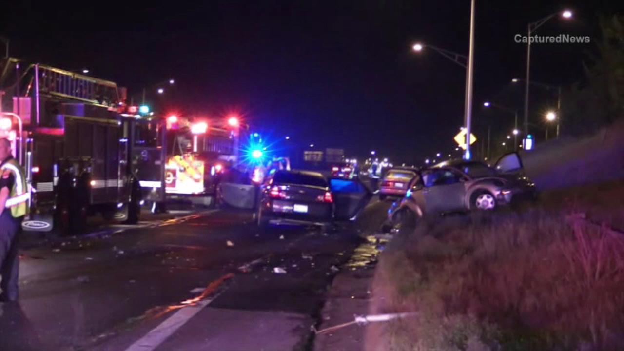 2 injured in I-90 crash near Harlem