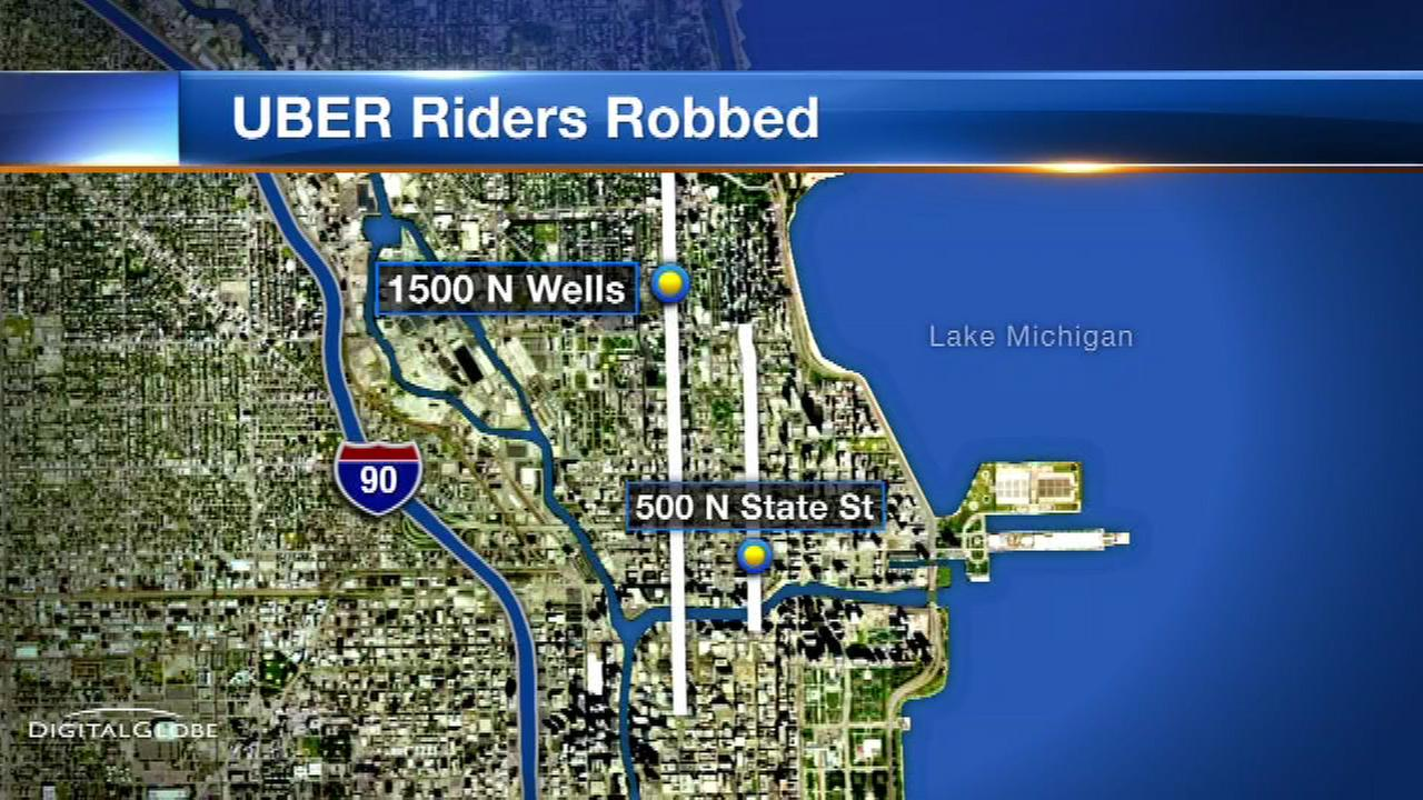 Chicago police warn of robbers targeting Uber riders on North Side
