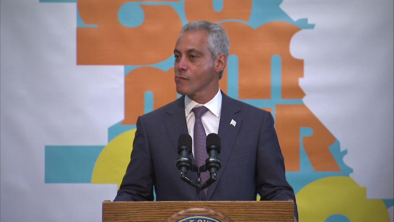 Chicago Mayor Rahm Emanuel got emotional when talking about Chicagos summer youth employment initiative.