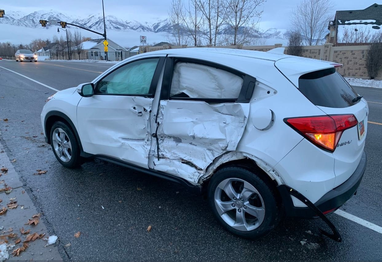 Police say a teenager participating in the latest viral challenge is responsible for a crash on a parkway and will face reckless driving charges.