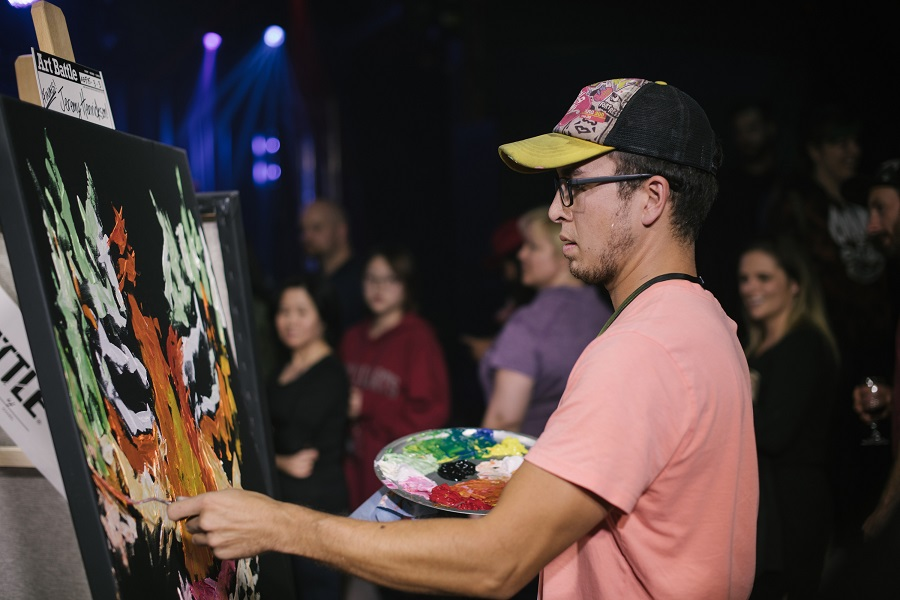 Art Battle Midwest Regional Finals. | Photos: Eventbrite