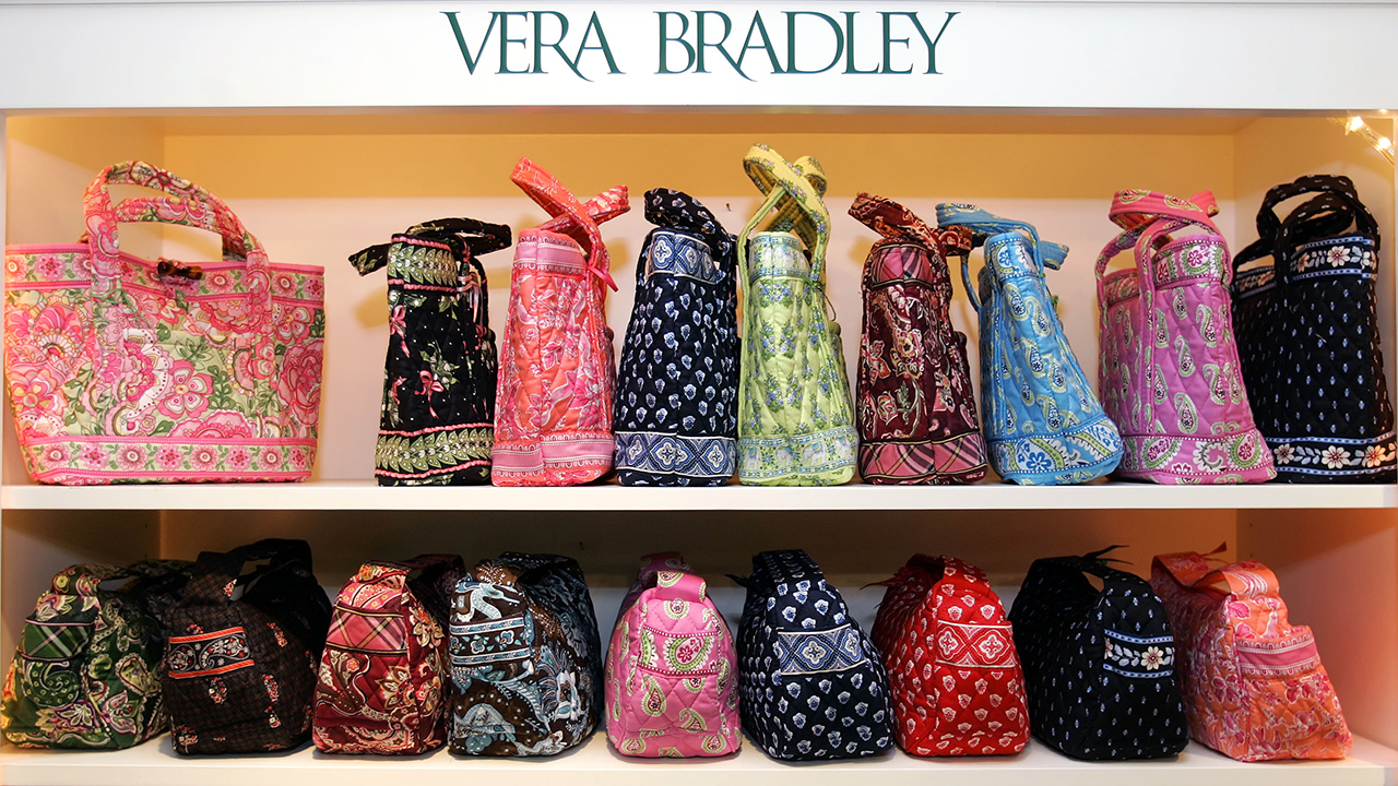 A display of handbags in the showroom at the Vera Bradley facility in Fort Wayne, Ind., Friday, April 7, 2006.