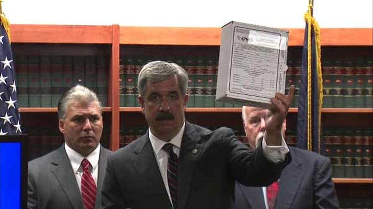 The Erie County district attorney explains that evidence from a rape kit is kept in a box, not a bag.