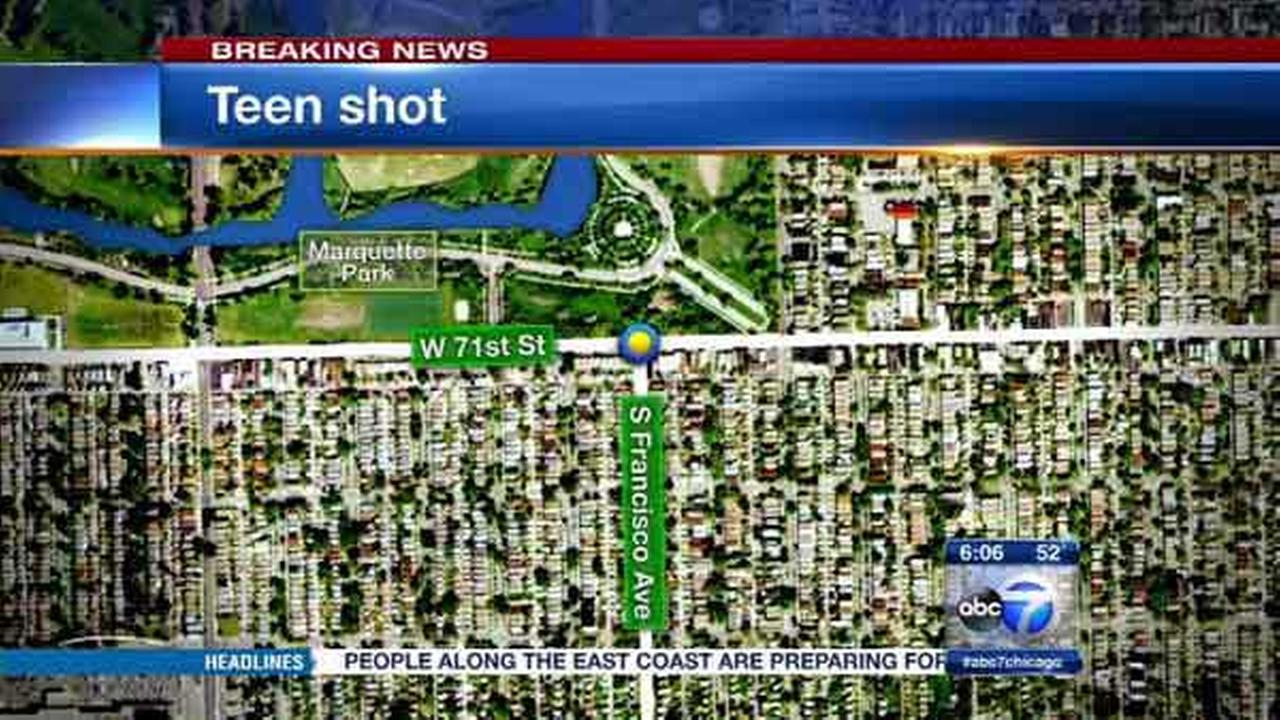 A 15-year-old boy was shot several times in Chicagos Marquette Park neighborhood.