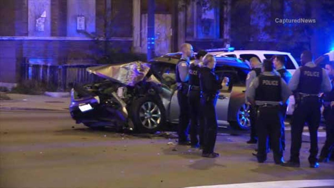A police sergeant was injured in a crash on South Morgan Street near West Garfield Boulevard on Chicagos South Side.