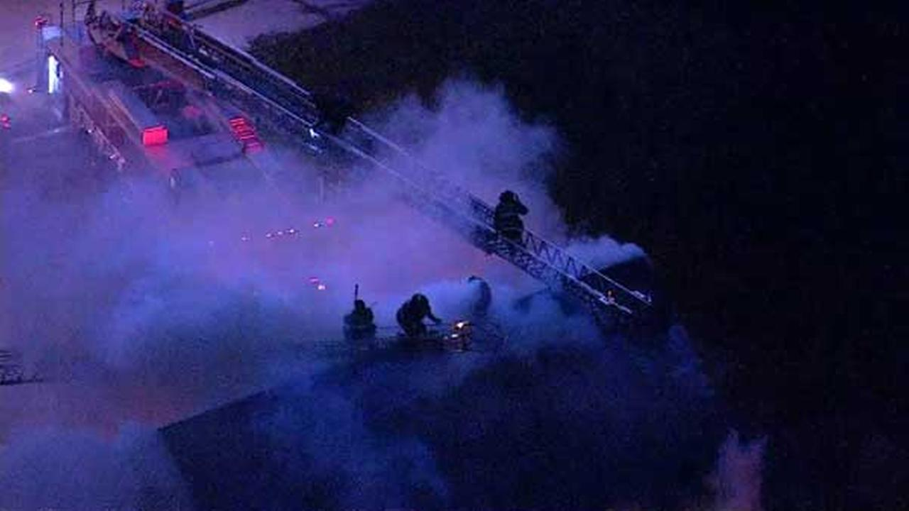 An abandoned home caught fire on Chicagos South Side. Smoke billowing out of the roof could be seen for miles.