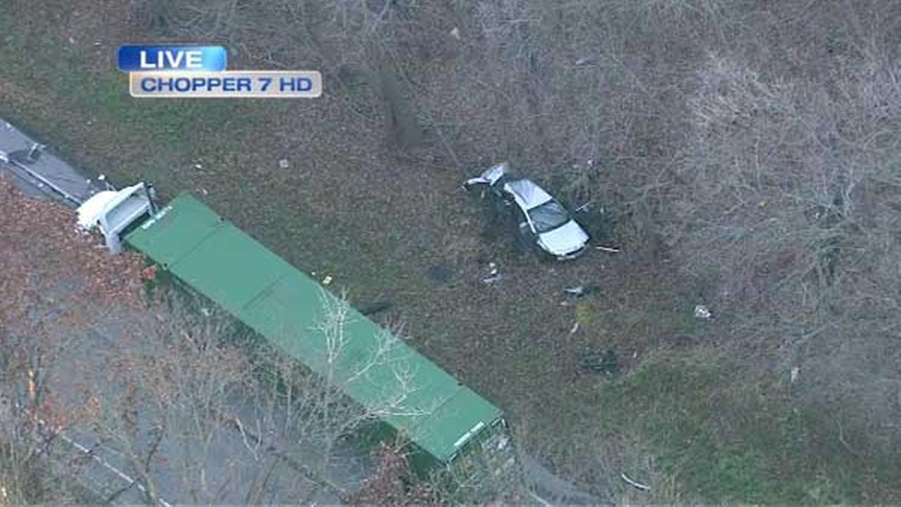 A semi t-boned a car on Archer Avenue in southwest suburban Willow Springs.