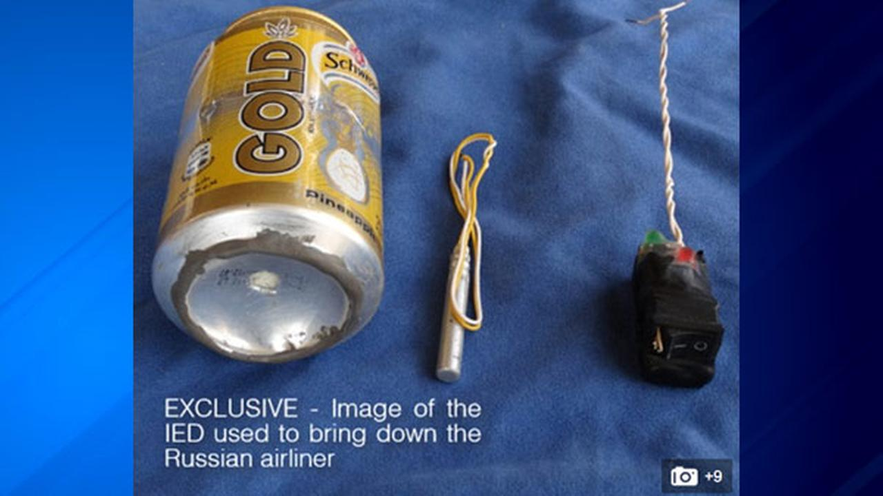 ISIS terrorists claim that a bomb hidden in a can of pineapple soda was used to blow up a Russian passenger jet