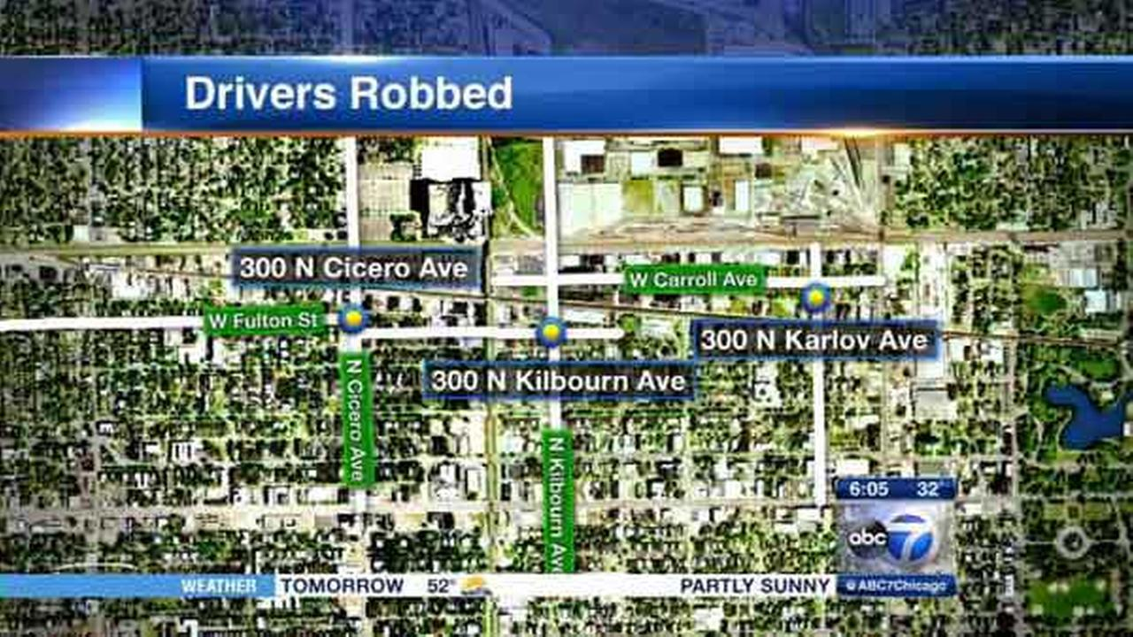 Police are warning cab drivers of a rash of robberies in Chicagos West Garfield Park neighborhood.