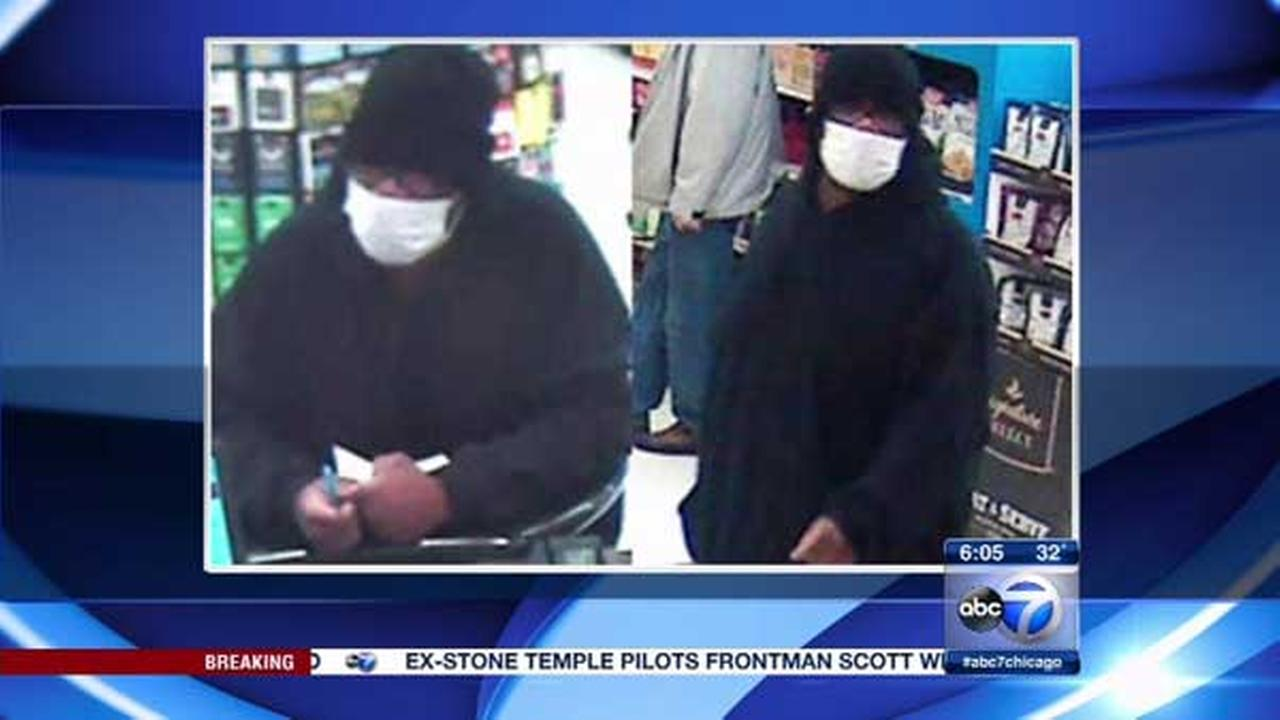 A man wearing a medical mask robbed a bank in north suburban Deerfield.