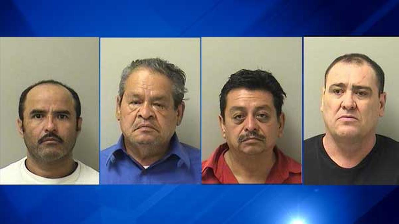 Sergio Delgadillo-Alvarez, 42; Ruben Guillen-Hernandez, 55; Jamie Guillen-Hernandez, 63; Luis Garica, 53.