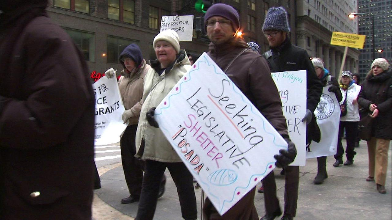 Local religious leaders march in 'posada' calling for immigration reform