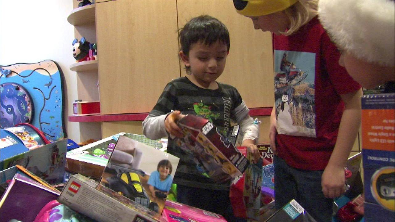 Chicago firefighters helped deliver Christmas cheer a few days early for children forced to spend the holiday in the hospital.