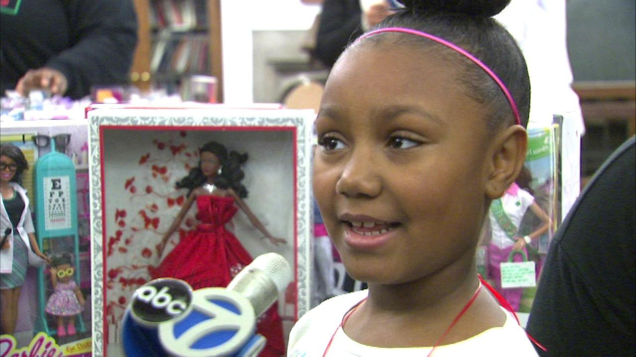 Joselyn Martin, 8, is on a mission to collect 1,000 Barbie dolls to give away to other girls this holiday season.