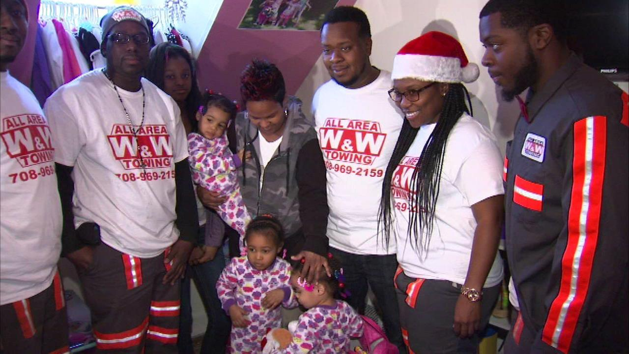 Tow truck company brings gifts to family of shooting victim