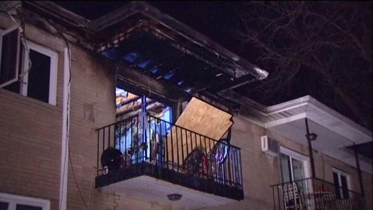Apartment damaged by fire in Lake Villa