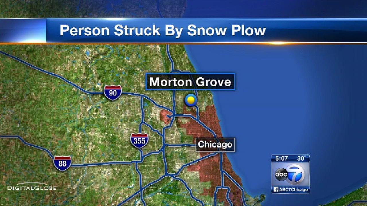 Elderly man fatally struck by snow plow in Morton Grove
