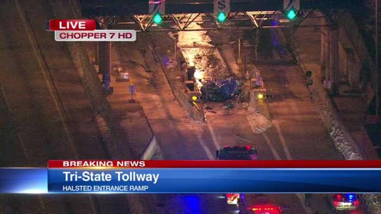 A fatal crash closed the Halsted entrance ramp to the southbound Tri-State Tollway, Illinois State Police said.