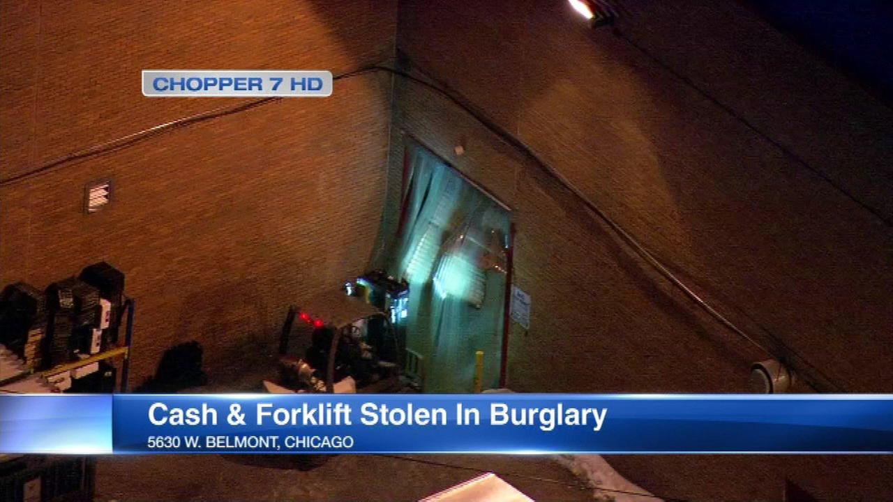 Cash, forklift stolen from Northwest Side grocery store