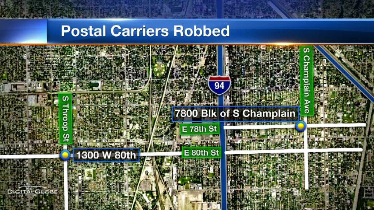 Postal carriers robbed on South Side; $10K reward offered