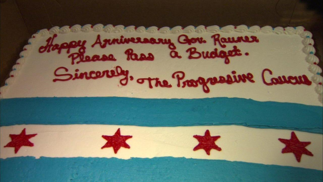 The cake deliver to Gov. Bruce Rauners office.