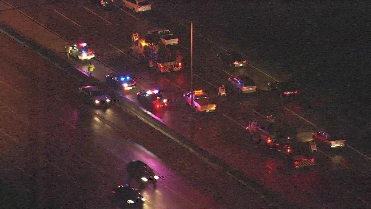 A 27-year-old man was killed after his car struck a tow truck on the northbound Tri-State Tollway near Central Road overnight, Illinois State Police said.