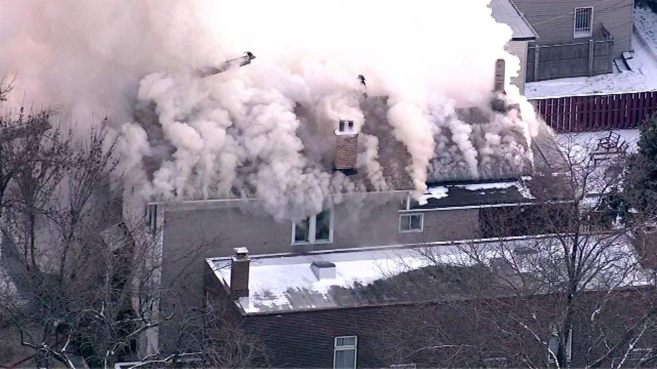Firefighters responded to the fire in a three-story apartment building in the 900-block of S. Miller Wednesday afternoon.