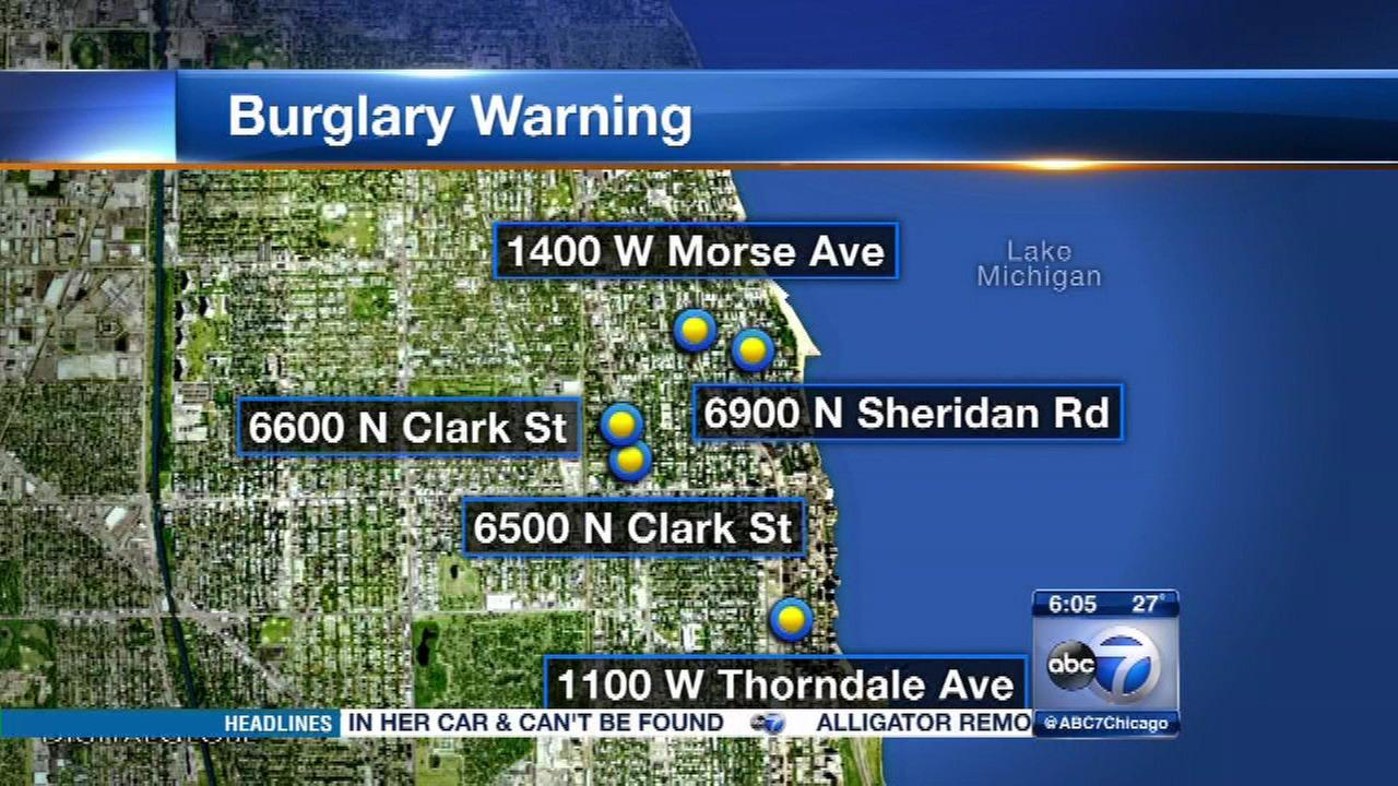 Police are warning businesses on Chicagos Far North Side about a string of recent burglaries.