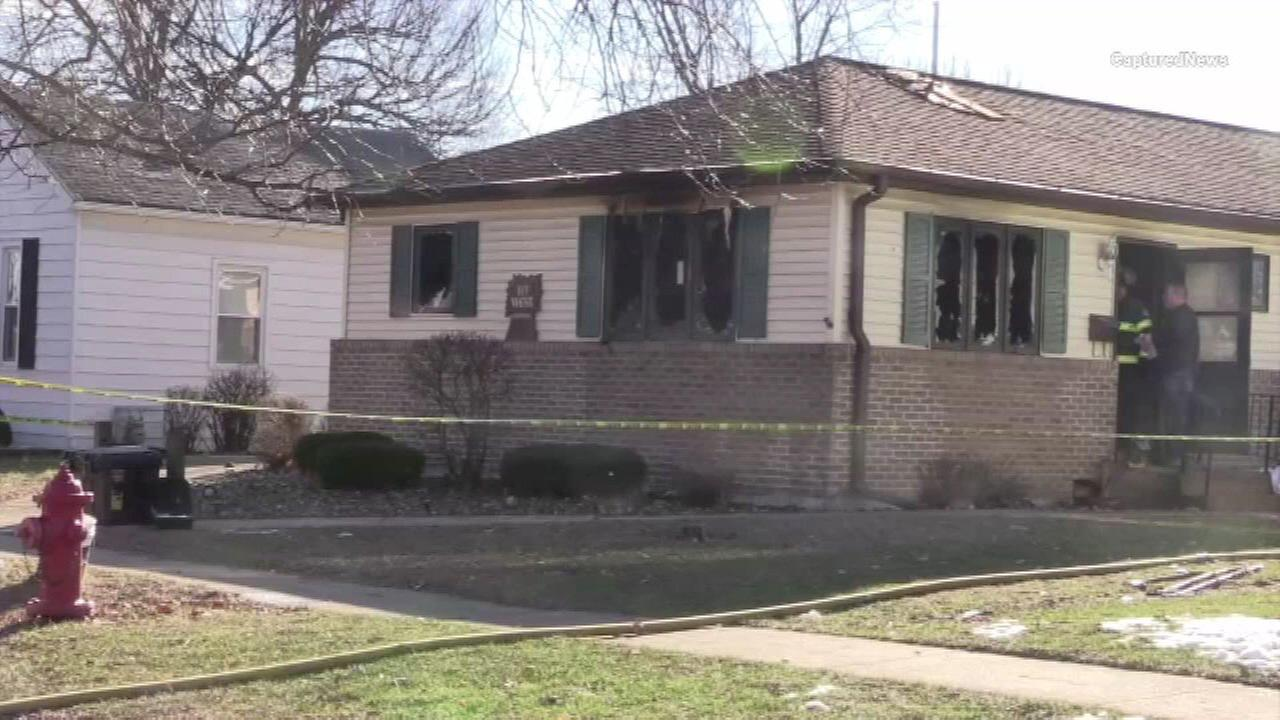 Firefighters in Livingston County discovered a body inside a burning house.
