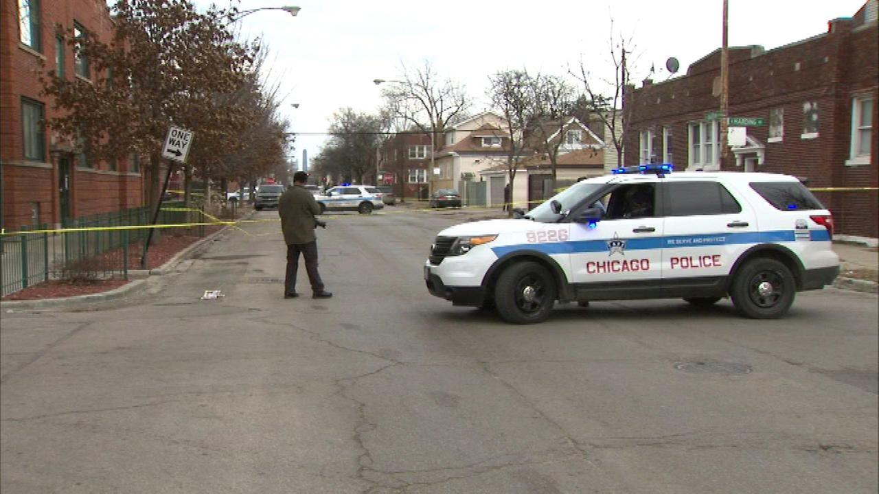 A 21-year-old man was fatally shot in a West Humboldt Park alley Sunday afternoon, police said.