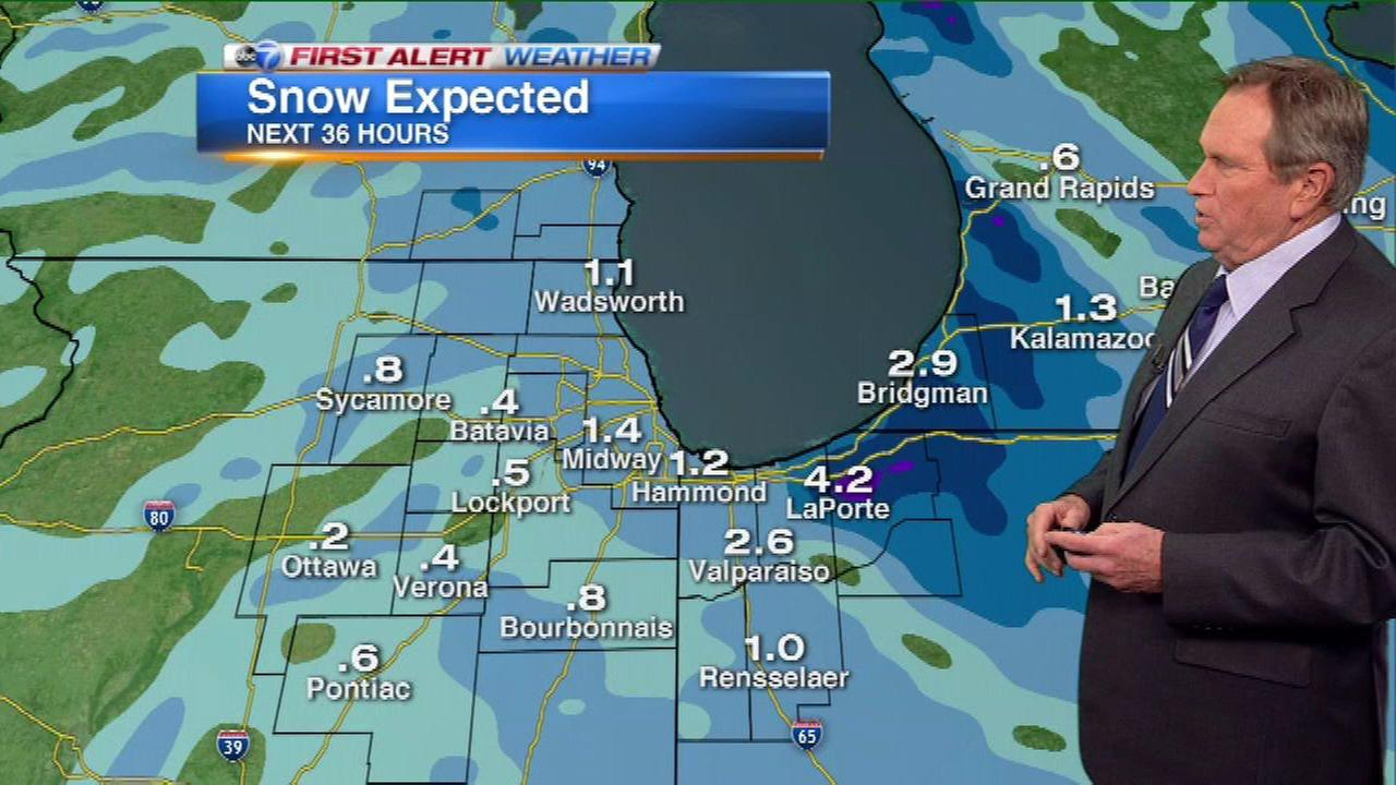 Chicago weather: Fresh snow could slow AM commute