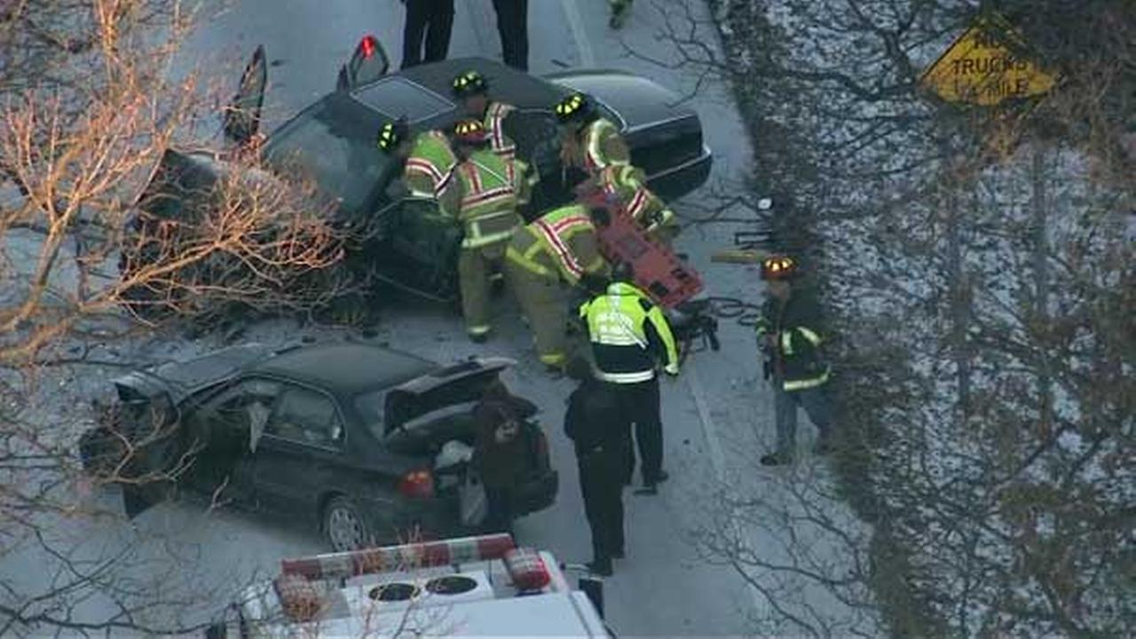 2 vehicles crash near 87th Street, La Grange Road