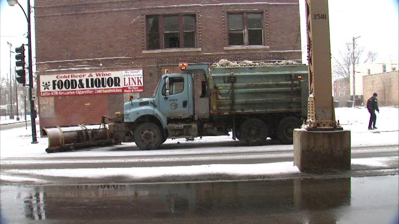 Shots fired at Chicago snowplow driver