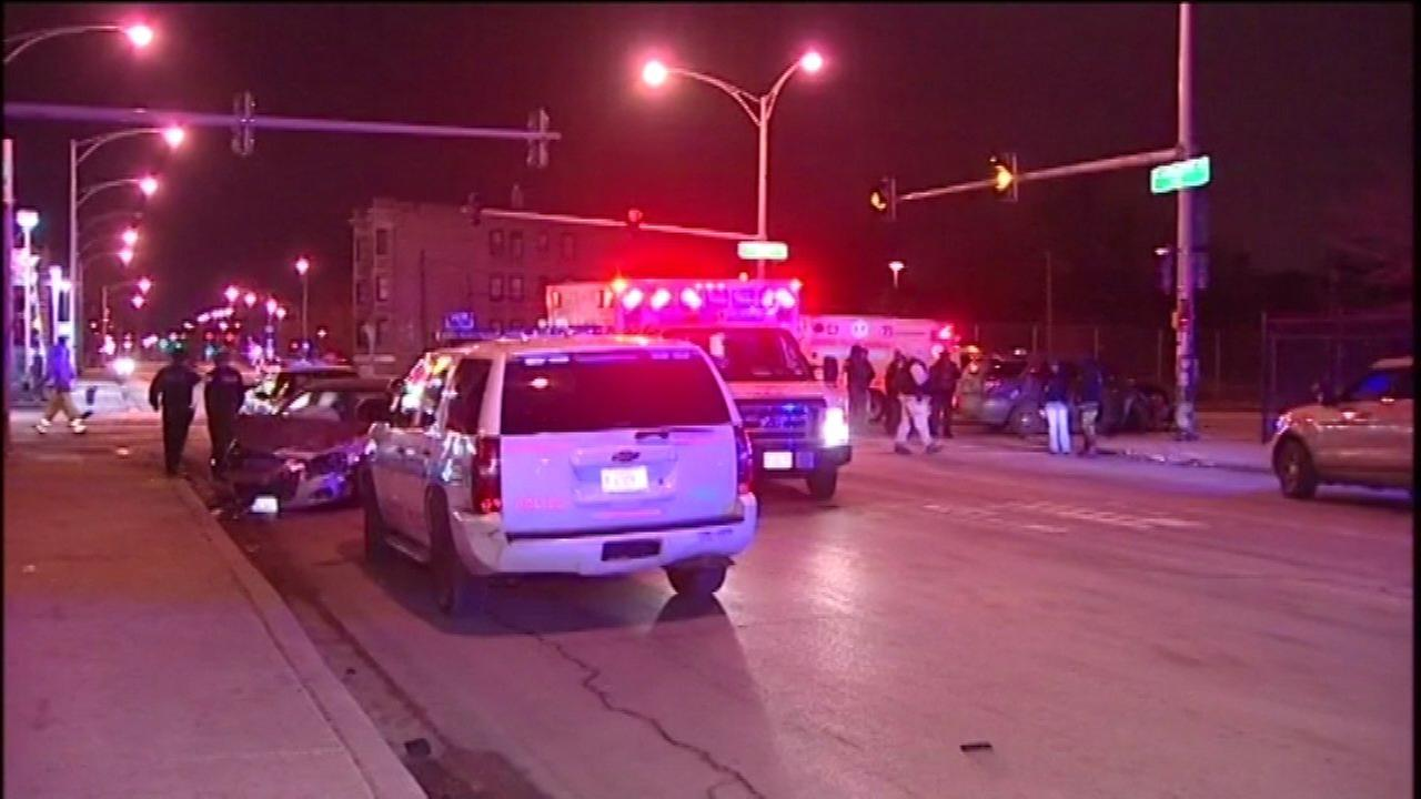 Two CPD officers injured in Englewood crash