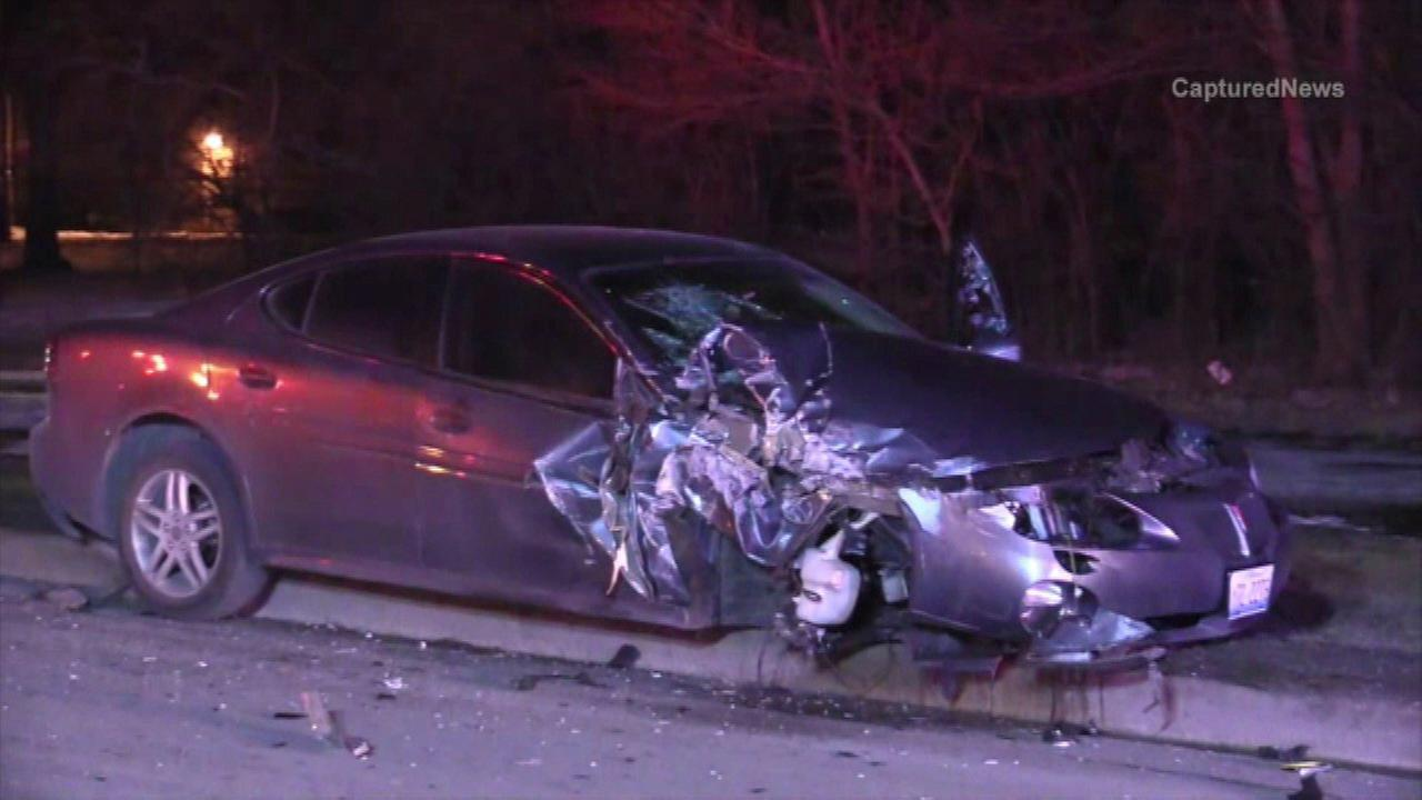 A high-speed chase that started in south suburban Calumet Park ended in a crash in nearby Riverdale early Thursday morning. Police are searching for a person who ran from the scene.