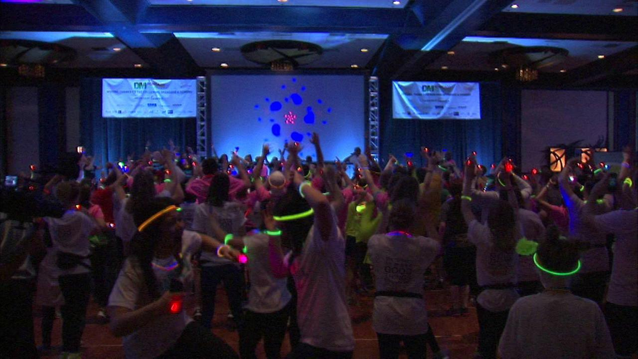 Hundreds of dancers helped raise life-saving funds for young patients at Lurie Childrens Hospital.