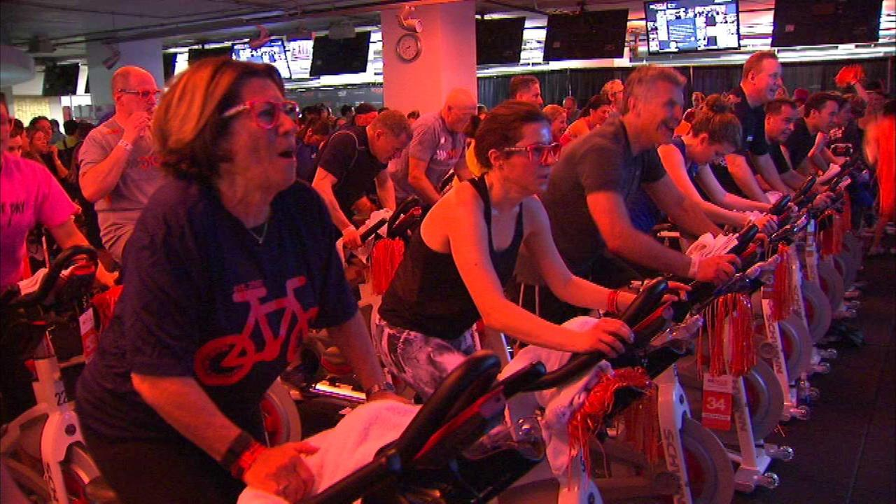 The national movement called Cycle for Survival was back in Chicago at Equinox Gym.