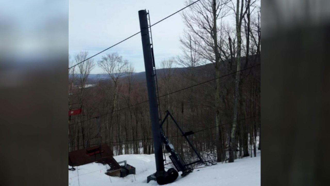 Ski lift malfunction strands 100 at West Virginia resort