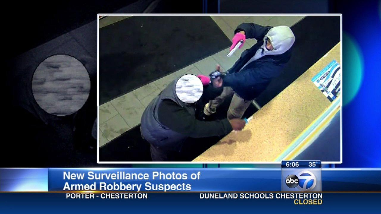 Chicago police released surveillance photos from an armed robbery at a gas station at 87th and State.